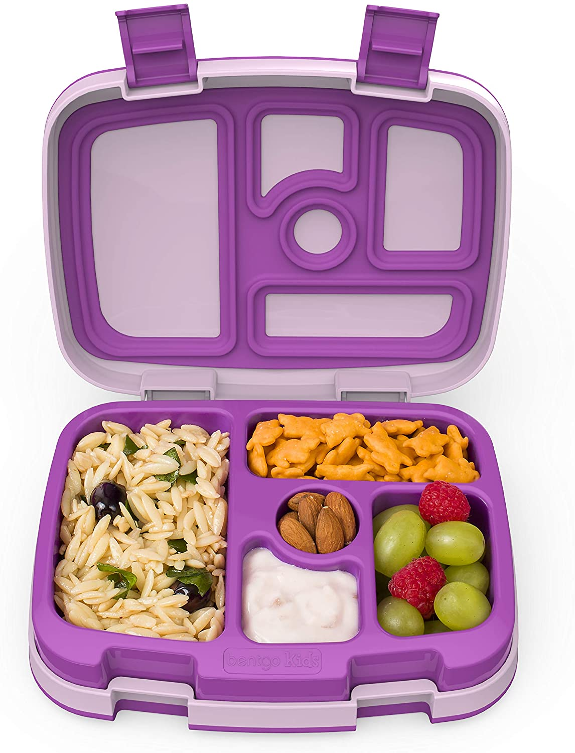Bentgo Kids Children's Lunch Box - Leak-Proof, 5-Compartment Bento-Style Kids Lunch Box - Ideal Portion Sizes for Ages 3 to 7 - BPA-Free, Dishwasher Safe, Food-Safe Materials