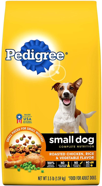 Pedigree Small Breed Adult Dry Dog Food, Chicken & Steak