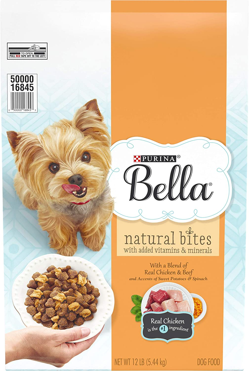 Purina Bella Natural Bites for Small Dogs Adult Dry Dog Food - 12 lb. Bag
