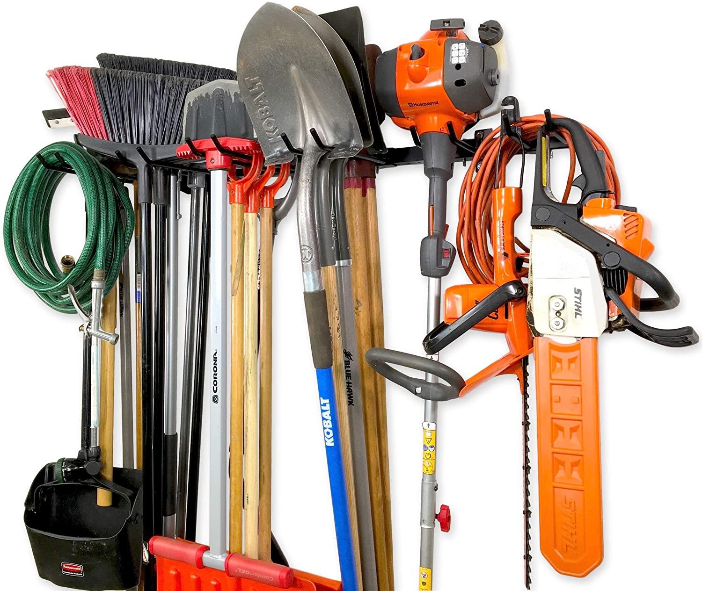 StoreYourBoard Tool Storage Rack, Max, Wall Mount Tools Home and Garage Organizer Storage System, Steel Gear Hanger