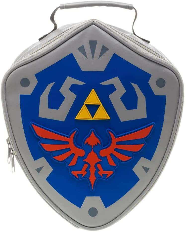 The Legend of Zelda Hylian Shield Gray Insulated Lunchbox Cooler Bag