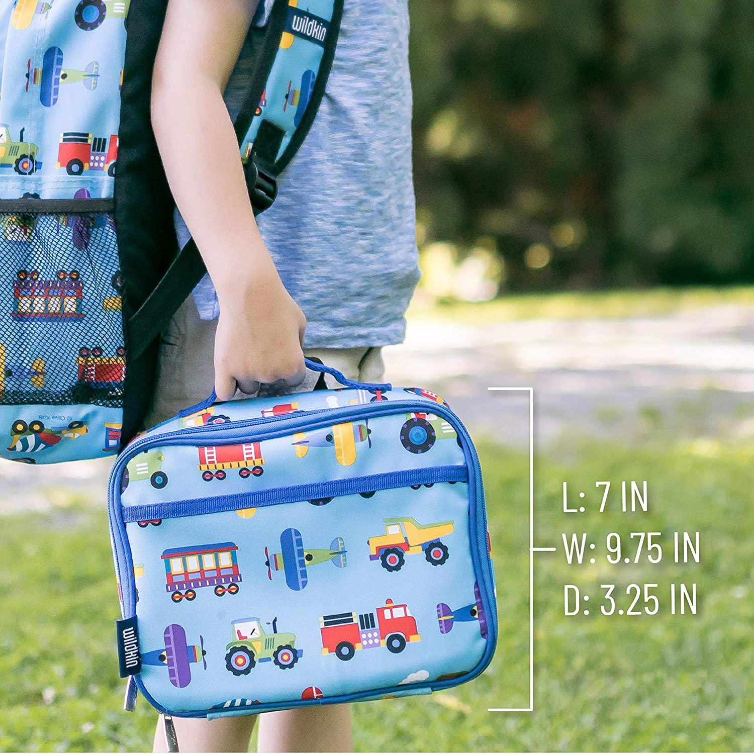 Wildkin Insulated Lunch Box for Boys and Girls, Perfect Size for Packing Hot or Cold Snacks for School and Travel, Mom's Choice Award Winner, BPA-Free, Olive Kids