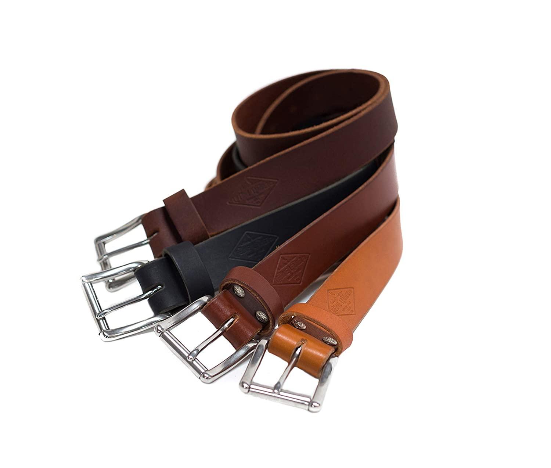"Authentic Leather Belt For Men, 1.5"", Personalized Belt, Handmade in Arizona, Full Grain Leathe"