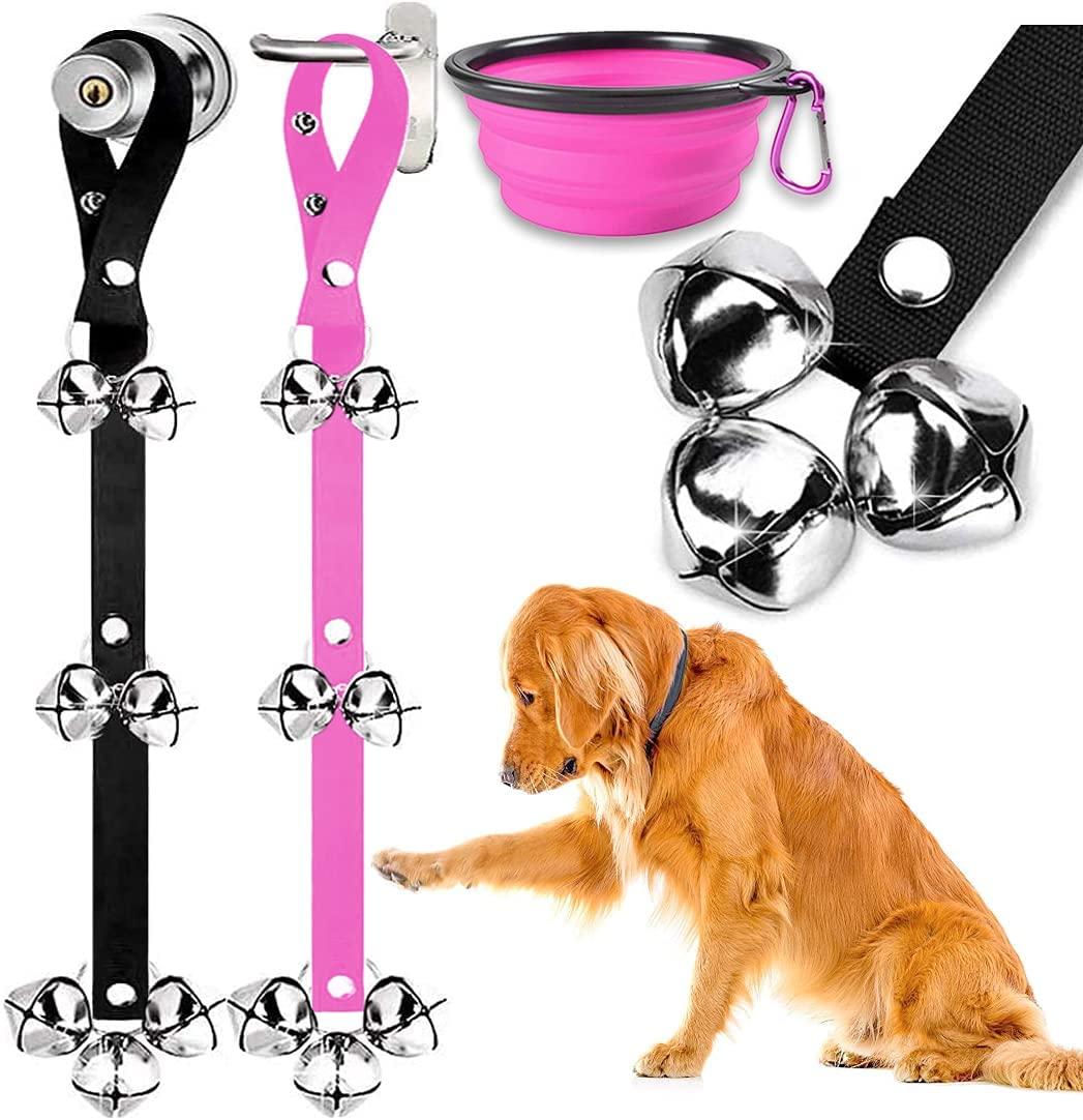 BLUETREE Dog Doorbells Premium Quality Training Potty Great Dog Bells Adjustable Door Bell Dog Bells for Potty Training Your Puppy The Easy Way - 7 Extra Large Loud 1.4 DoorBells