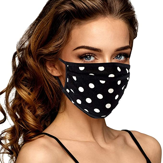 Breathable Cloth Face Mask for Women - Cute & Reusable with Filter Pocket USA