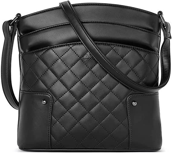 CLUCI Crossbody Bags for Women Small Leather Purse Travel Ladies Designer Triple Pockets Vintage Handbags Shoulder Bags