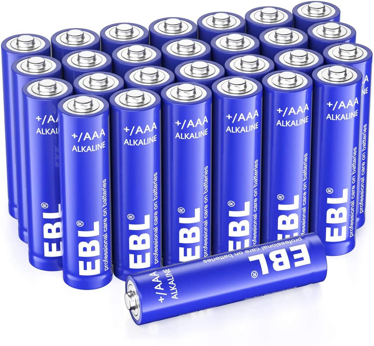EBL AAA Alkaline Batteries - Triple A 1.5V Long Lasting AAA Batteries Single Use Battery (28 Count)