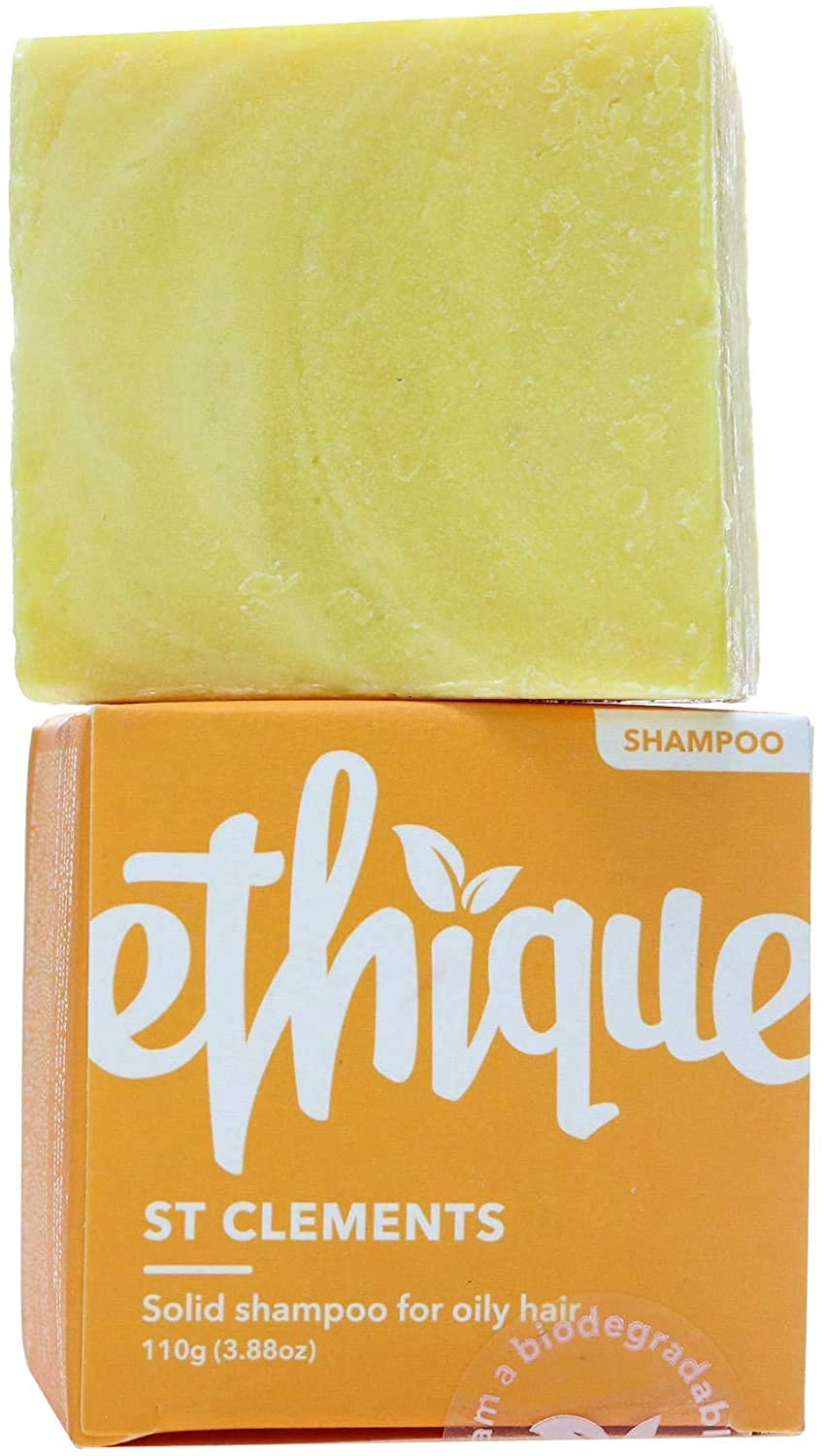 Ethique Shampoo Bar for Oily Hair, St. Clements - Sustainable Natural Cleansing Oily and Greasy Hair Shampoo, Plastic Free, pH Balanced, Vegan, Eco-Friendly 100% Compostable & Zero Waste, 3.88oz