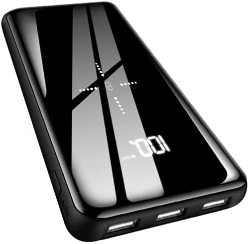 Gnceei 25000mAh Portable Charger, Wireless Power Bank Fast Charging USB C with 3 Outputs & 2 Inputs, Ultra High Capacity External Battery Pack Compatible with iPhone, Samsung, iPad etc.