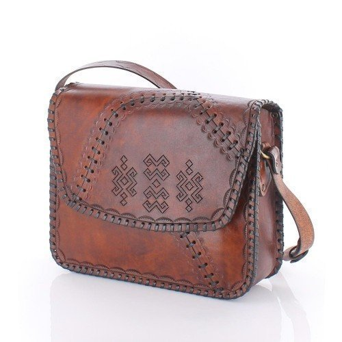 Handmade Leather Woman Crossbody Bag Shoulder Purse Ladies Brown Leather Satchel Genuine Leather Handbag