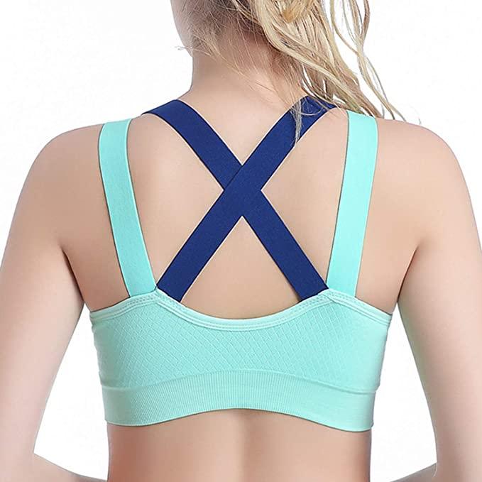Lukitas Fitness Bra for Women Gym Push Up Padded Crosscriss Workout Yoga Underwear