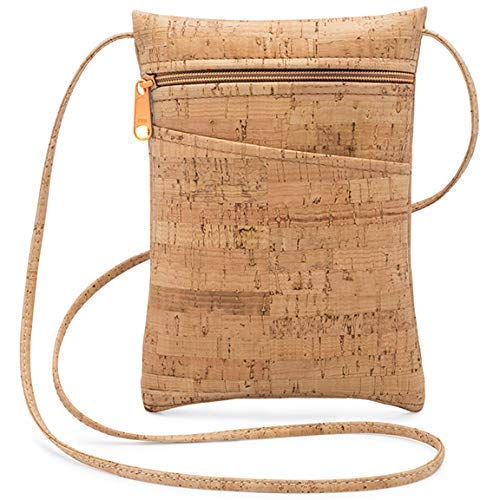 Mini Cork Cross Body Bag with Natural Zipper