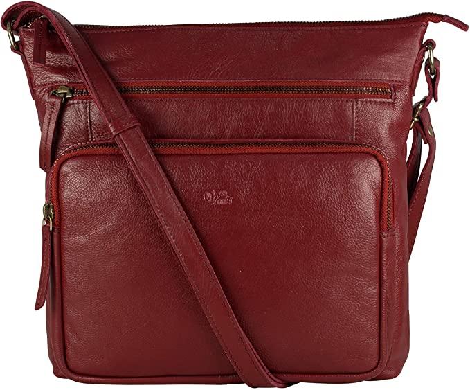 Mou Meraki Genuine Leather Crossbody Purse and Handbags - Crossover Bag Over the Shoulder Women