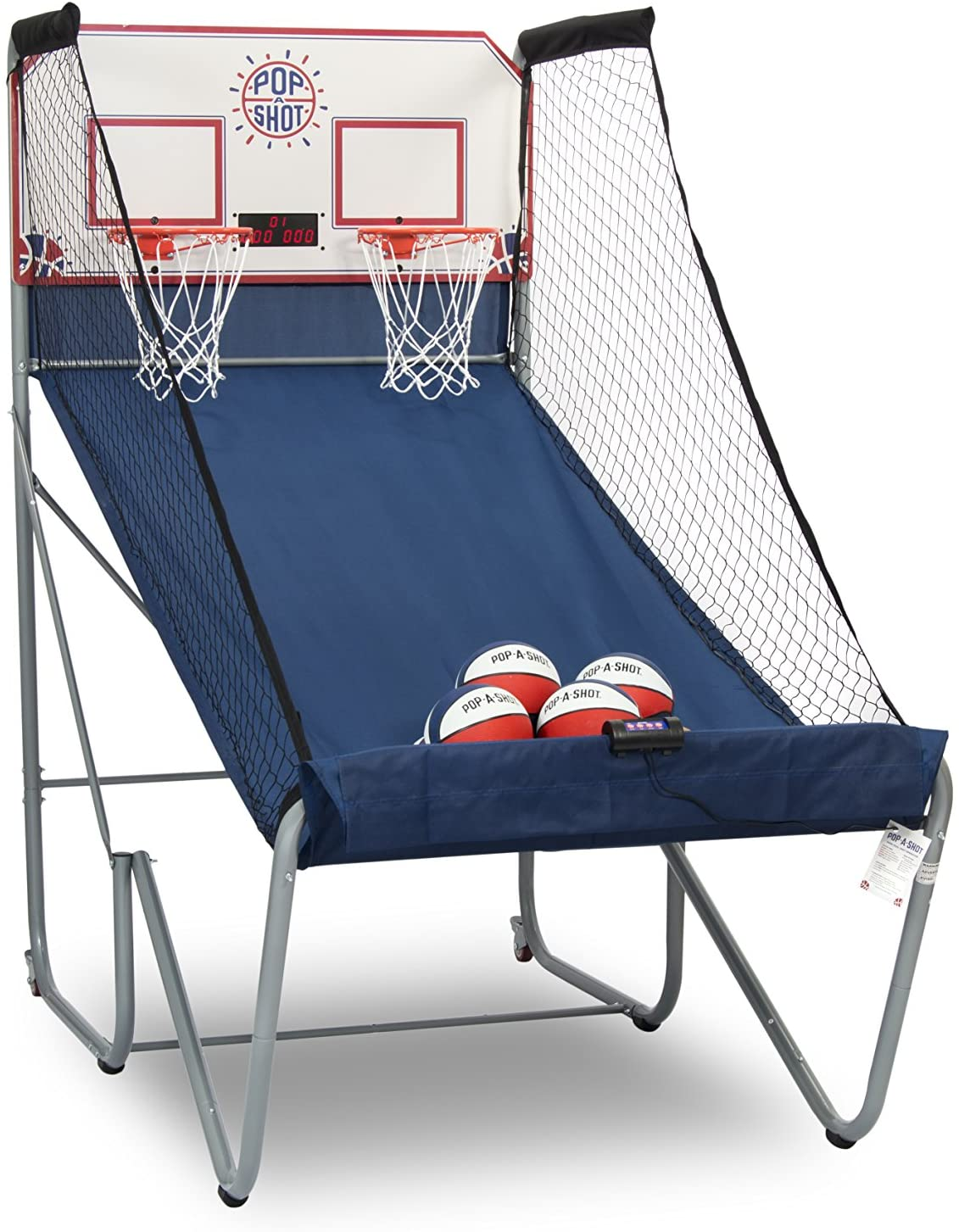 Pop-A-Shot Official Home Dual Shot Basketball Arcade Game - 16 Different Games - 6 Audio Options - Near 100% Scoring Accuracy - Multiple Height Settings - Large LED Scoreboard