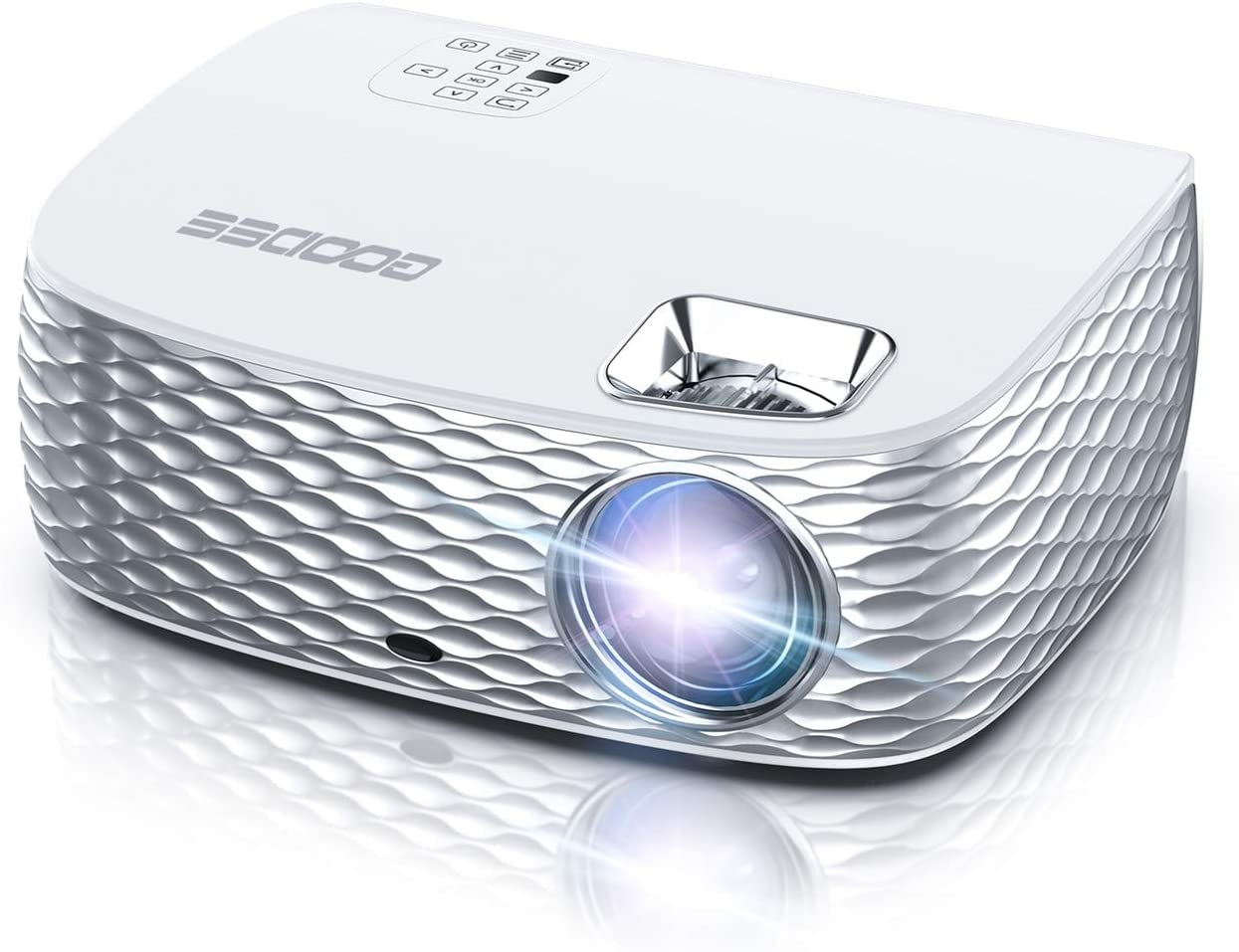 Projector, GooDee HD Video Projector Native 1920x1080P, Outdoor Movie Projector 9500L 300'' Touch Keys Home Theater Projector with 50000 Hrs Lamp Life, Support Fire TV Stick/PS4/HDMI/iOS /Android
