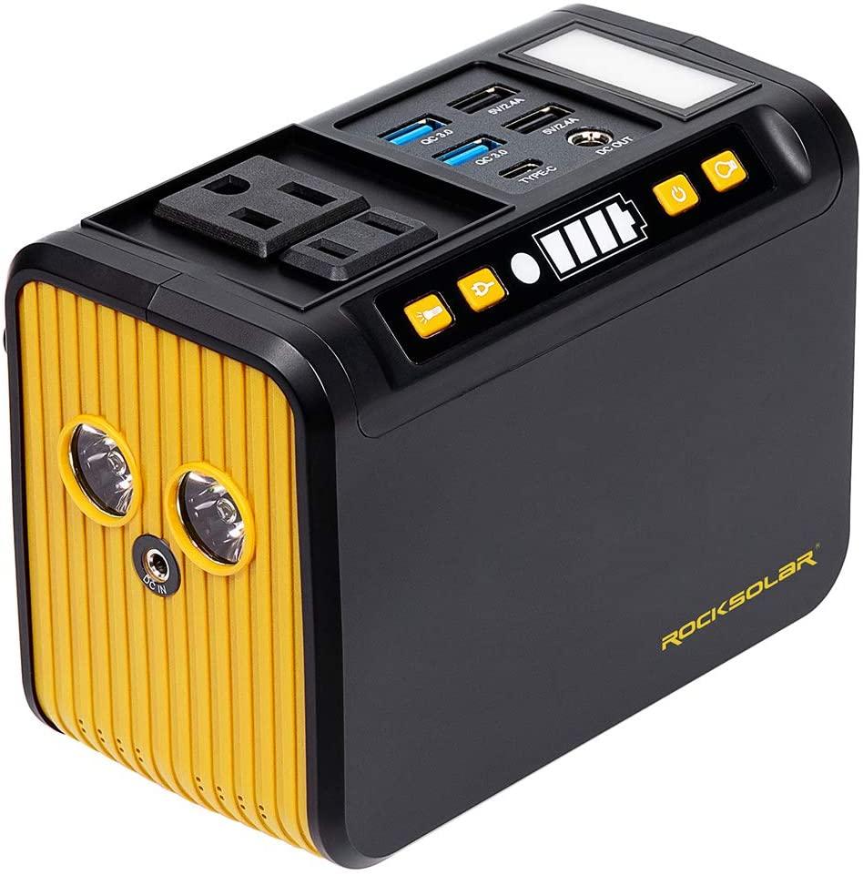 ROCKSOLAR Weekender RS81 80W/ PEAK 120W Portable Power Station