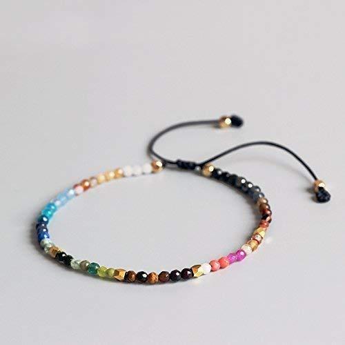 TALE 12 Constellation Lucky Stone Simple Reiki Bracelet 3mm Beaded Adjustable Hollywood Bohemia